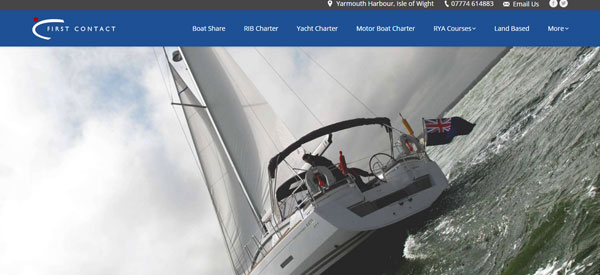 First-Contact-Boat-Charters-website