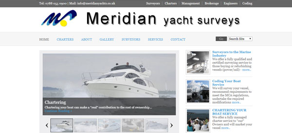 Meridian-Yachts-website
